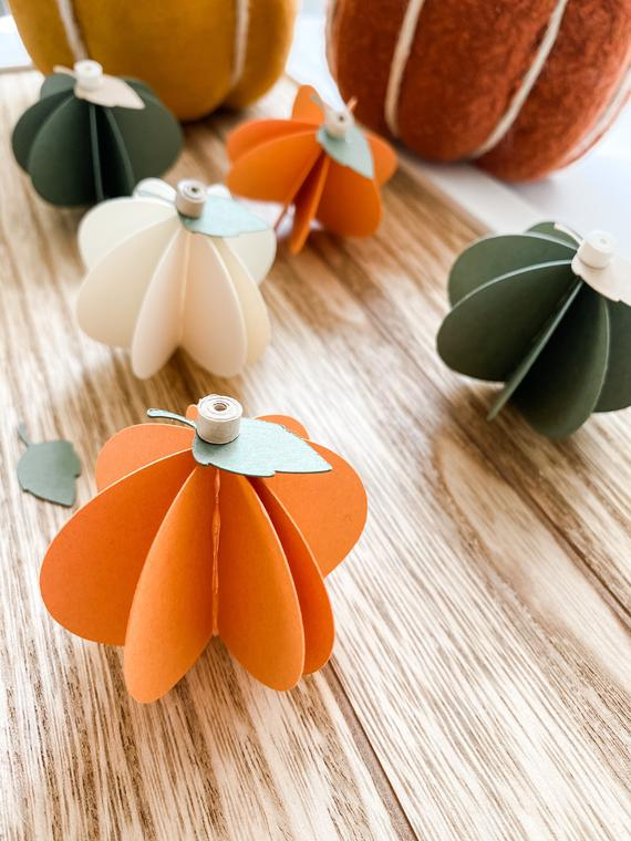Fall Paper Pumpkins Fall Decor Table Decor Fall Table | Etsy