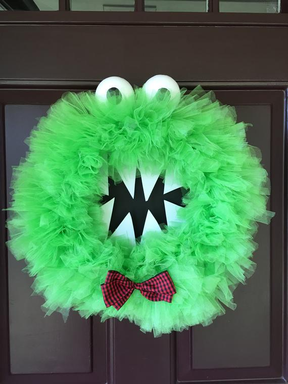 Sir Archibald Monster Halloween Wreath | Etsy