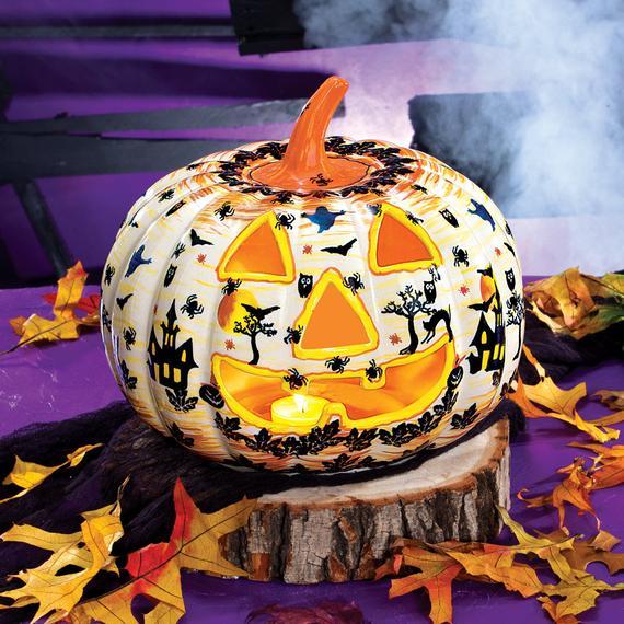 Polish Pottery Jack-O'Lantern Fall Halloween Decor | Etsy
