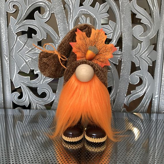 Fall Gnome Autumn Gnome Fall Leaf and Acorn Gnome | Etsy