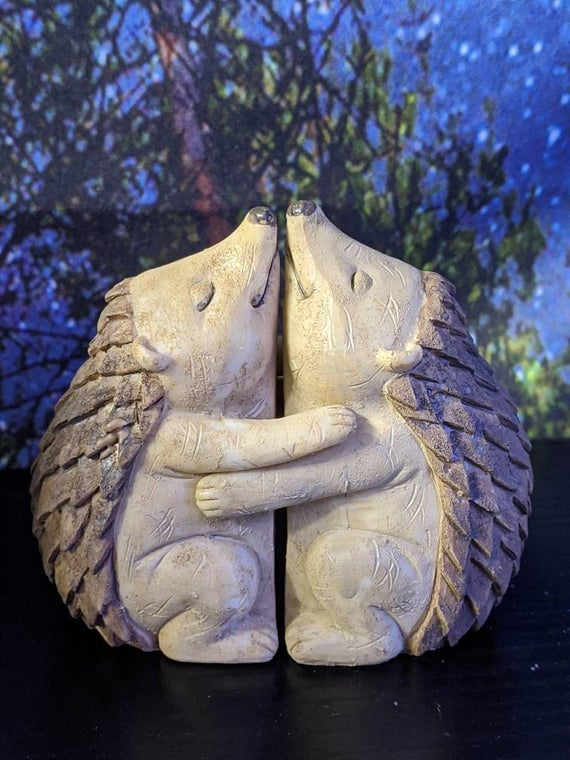 Hedgehog Hugging Couple Figurine Home Decor Statue Figure | Etsy