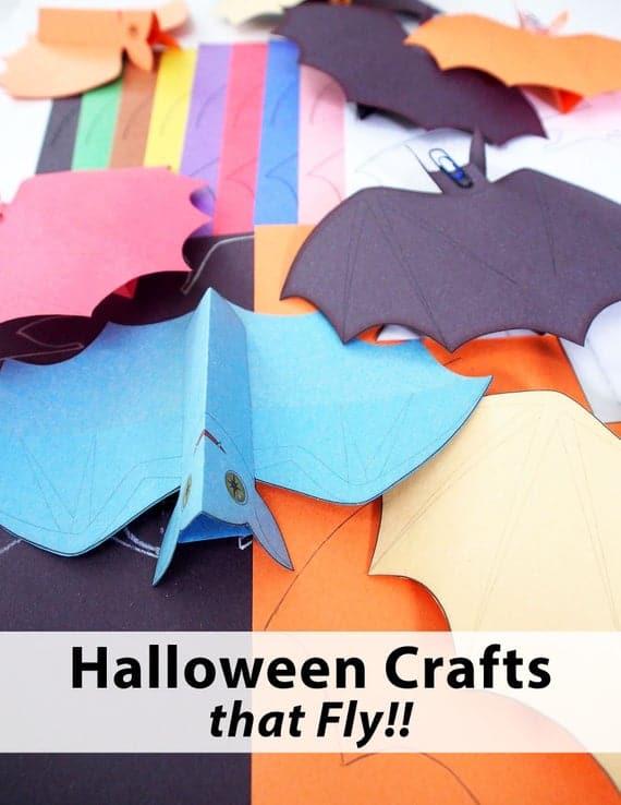 Bat Aeronaut DIY Papercraft Bat Flying Paper Bat Project | Etsy