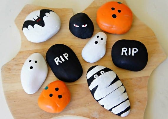 Hand Painted Beautiful Halloween Theme Stones Paperweights | Etsy