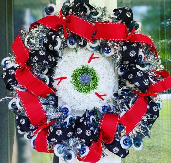 Eyeball Eye Creepy Garland I Got My Eye on You Wreath | Etsy