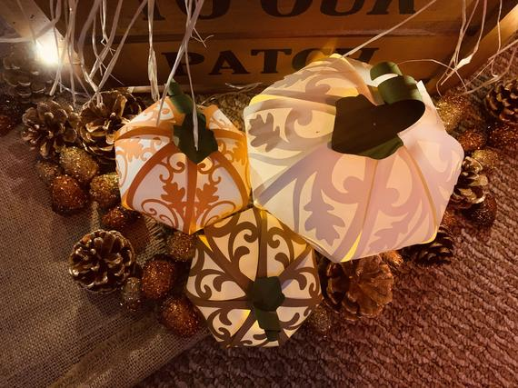 Halloween Lantern SVG and PDF Cutting Files Paper Pumpkin | Etsy