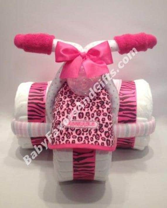 Tricycle Diaper Cake in Many Colors Great gift or | Etsy