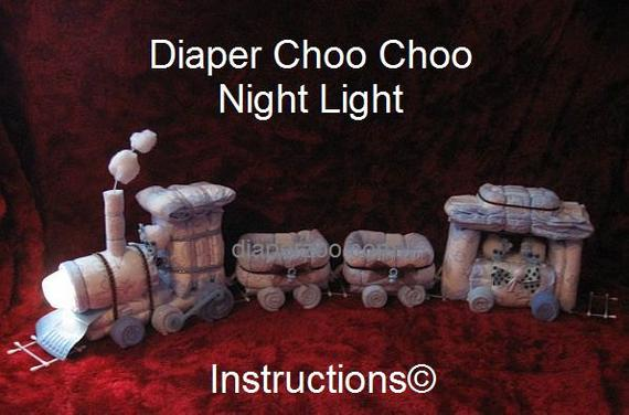 Instructions Diaper Choo Instructions for Choo Train Night | Etsy