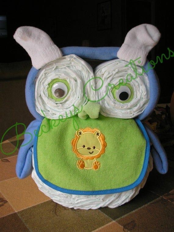 Diaper Owl Diaper Cake Boy Diaper Cake Girl Diaper Cake | Etsy