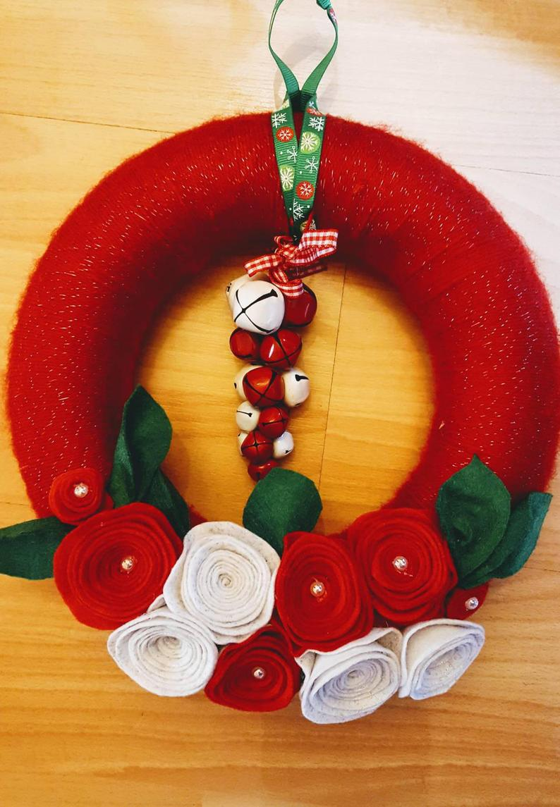 Fuoriporta Garland for Christmas with wool and felt