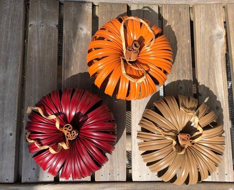 Mason Jar Lid Pumpkins / Canning Jar Lid Pumpkin