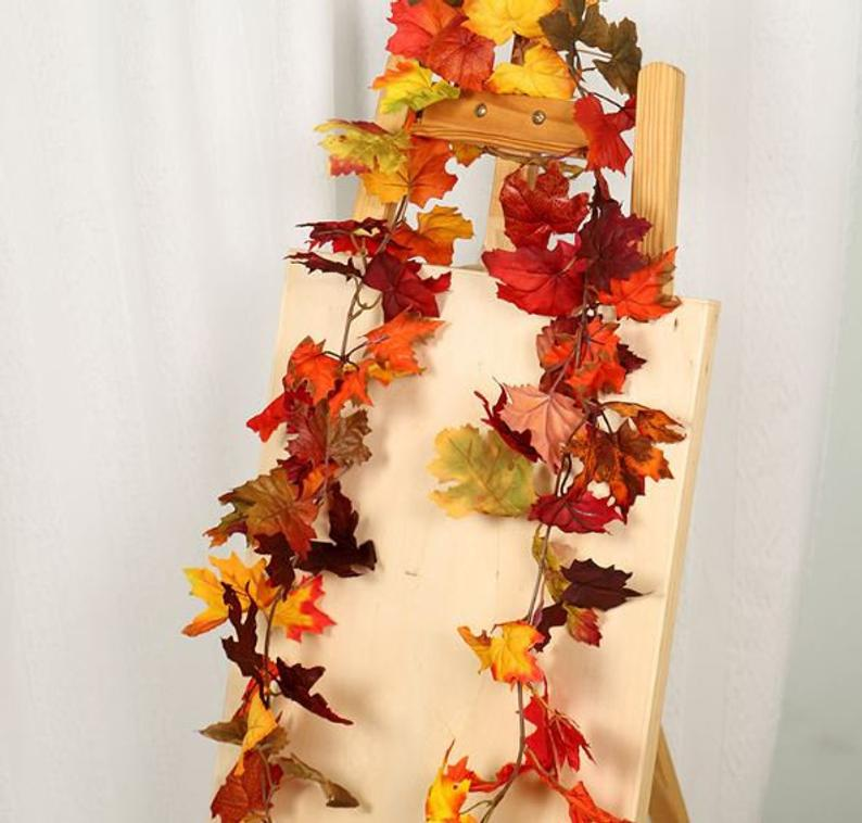 Maple Leaves Garland Fall Garland Autumn Decoration Hanging Thanksgiving