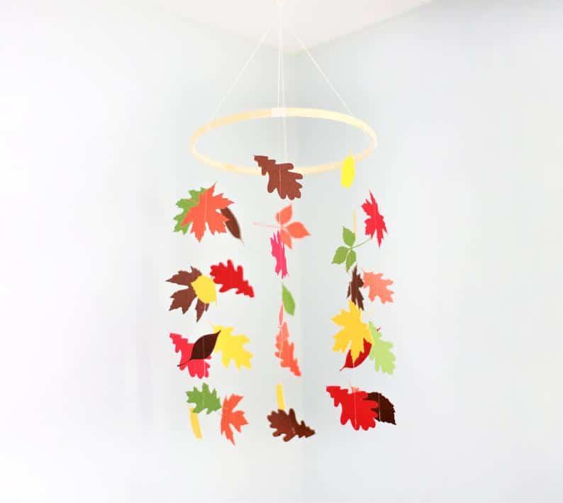 Crib mobile, fall mobile, leaf mobile, leaf mobile