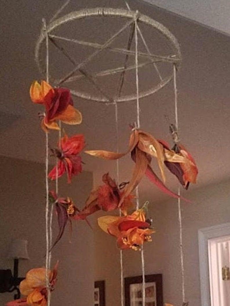 Fall/ Mabon Hanging Leave Decoration