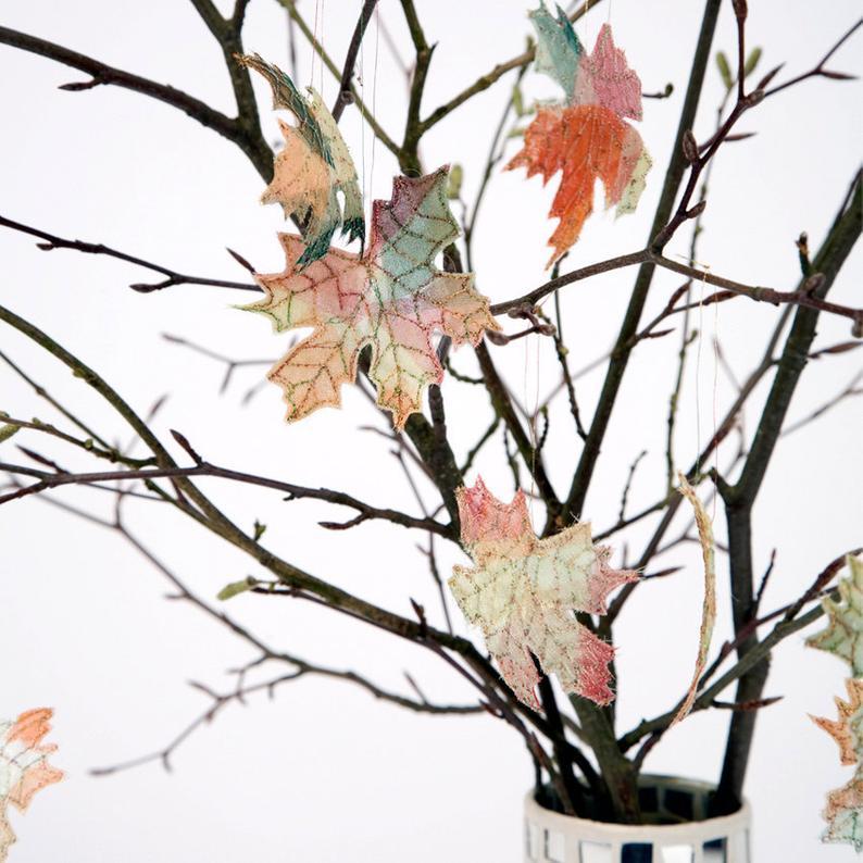 Autumn Leaf Decorations, Autumnal Maple Leaves, Tree Decorations