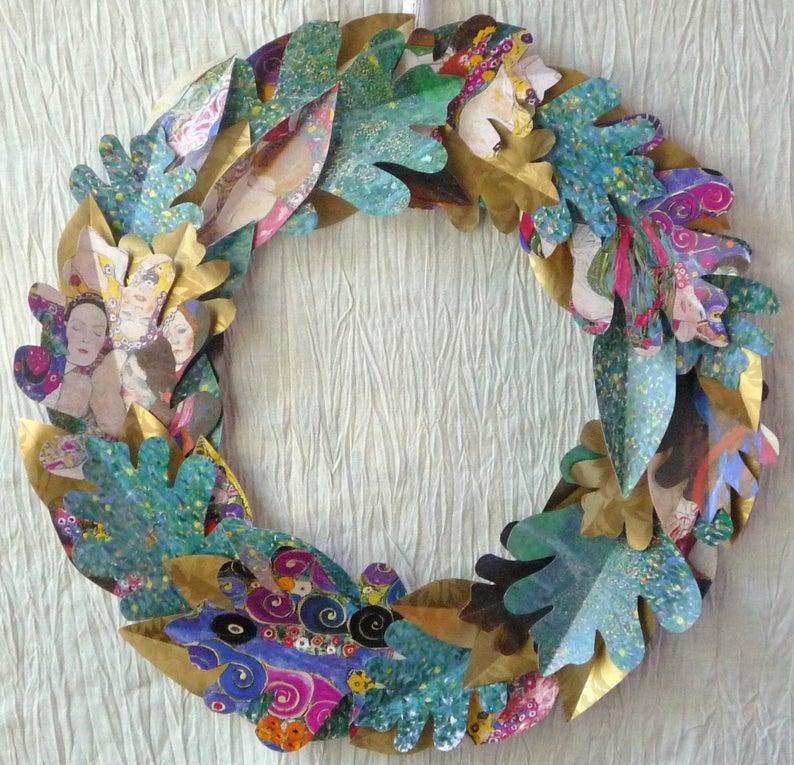 Klimt Paper Wreath