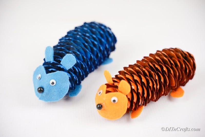 completed hedgehog crafts