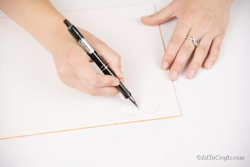 tracing out pieces of paper
