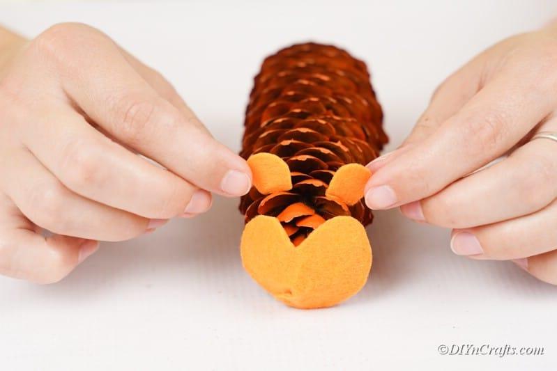 adding pieces onto hedgehog