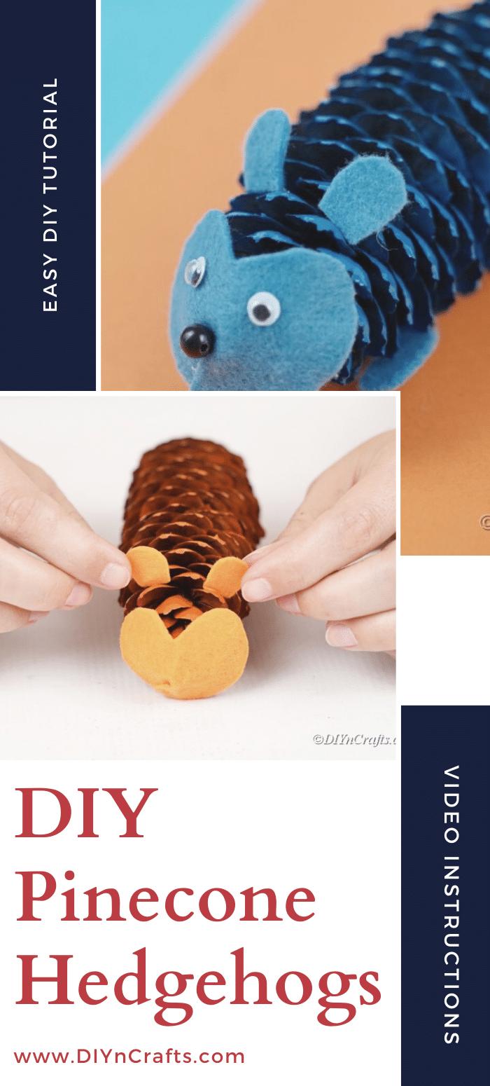 Pinecone hedgehog tutorial steps