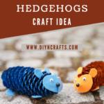 Pinecone hedgehog tutorial