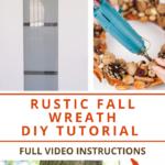 Steps to create a rustic autumn wreath