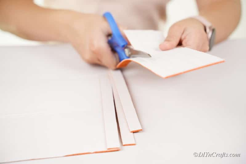 cuttin gorange foam craft sheet