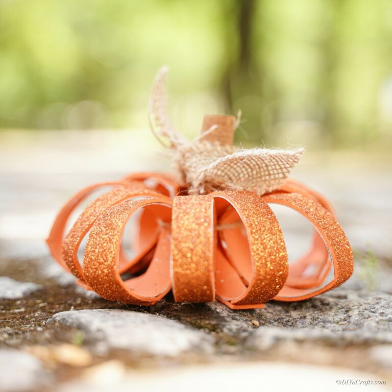 Recycled Toilet Paper Roll Pumpkin Craft Idea