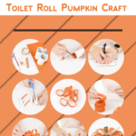Steps to make your own recycled toilet paper roll pumpkin