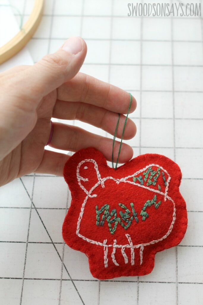 Embroidered decoration