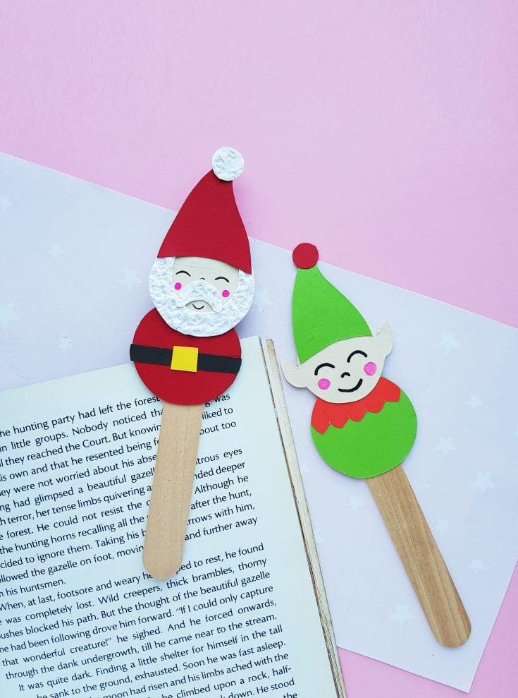 Santa and elf bookmarks
