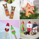 Kids Christmas craft collage