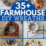 Farmhouse wreath collage