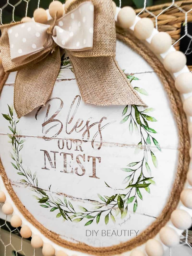 Bless this nest wreath
