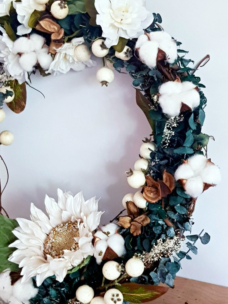 Dark greenery wreath