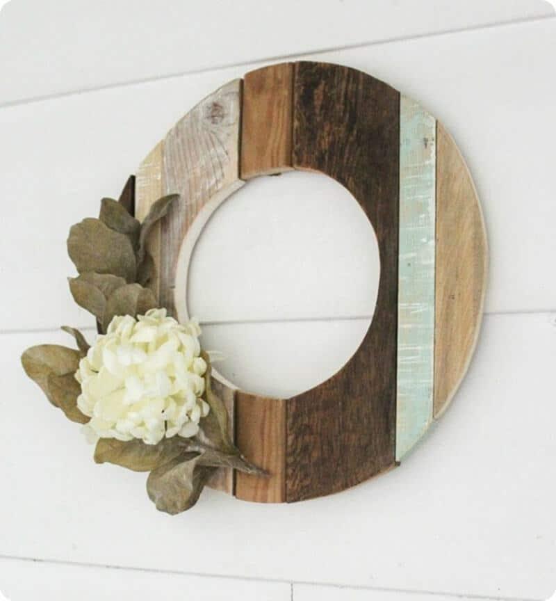 Reclaimed wood wreath