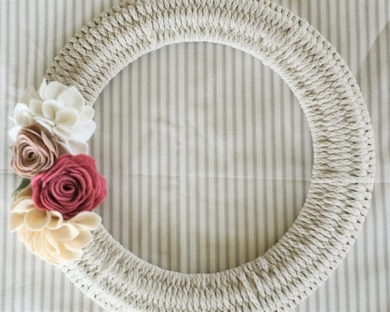 Rope wrapped wreath