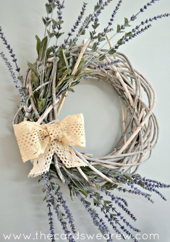 Grapevine wreath with bow