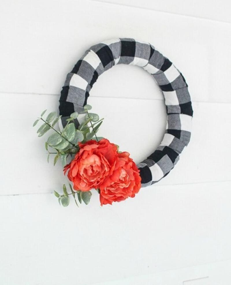 Buffalo plaid wreath