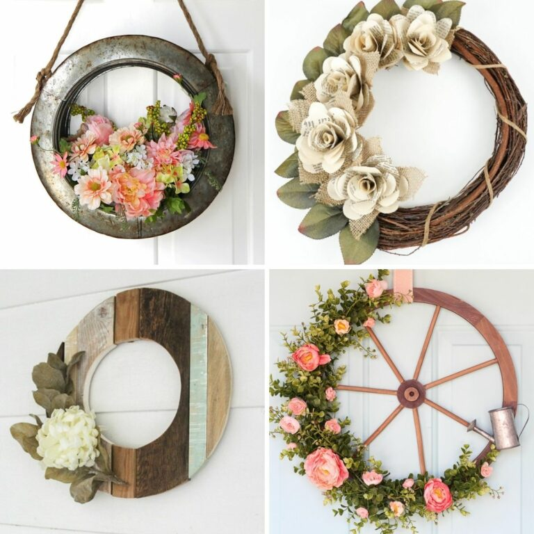 Farmhouse wreath collage