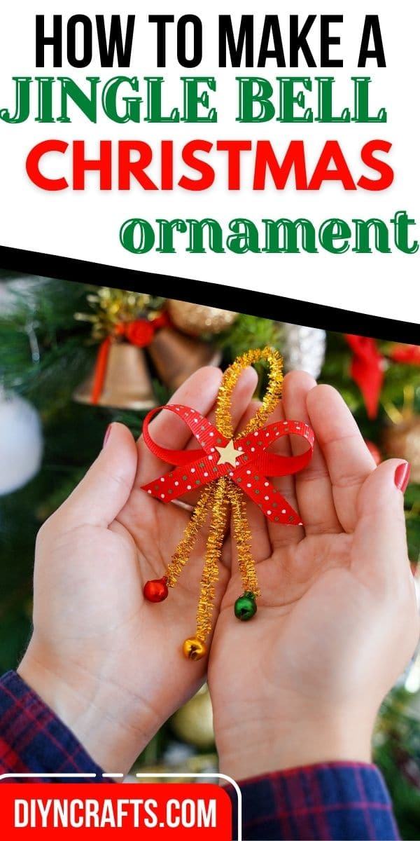 Woman holding pipe cleaner ornament