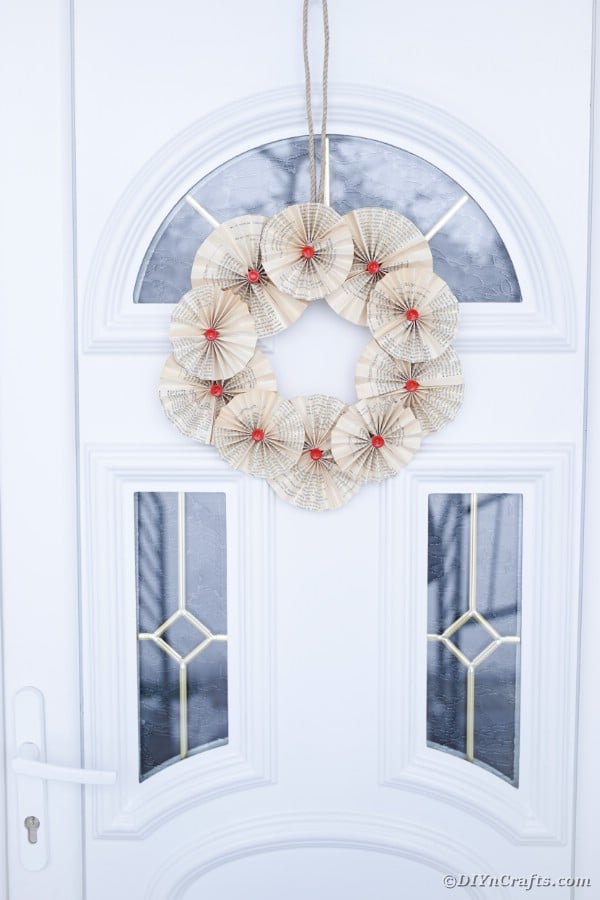 Paper fan wreath