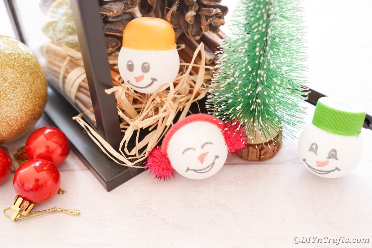 Ping pong ball ornaments by holiday decor