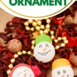 Ping pong ball ornaments on table