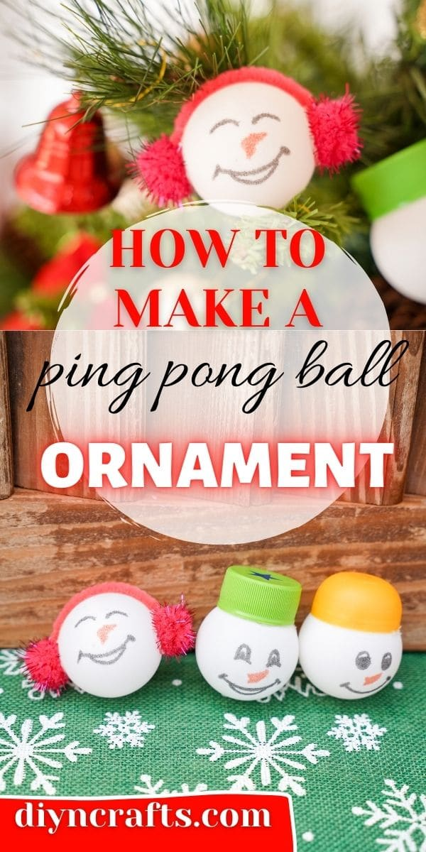 Ping pong ball ornament collage