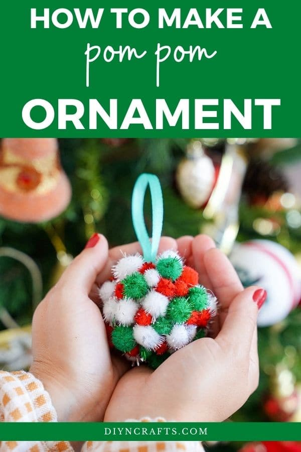 Woman holding ornament