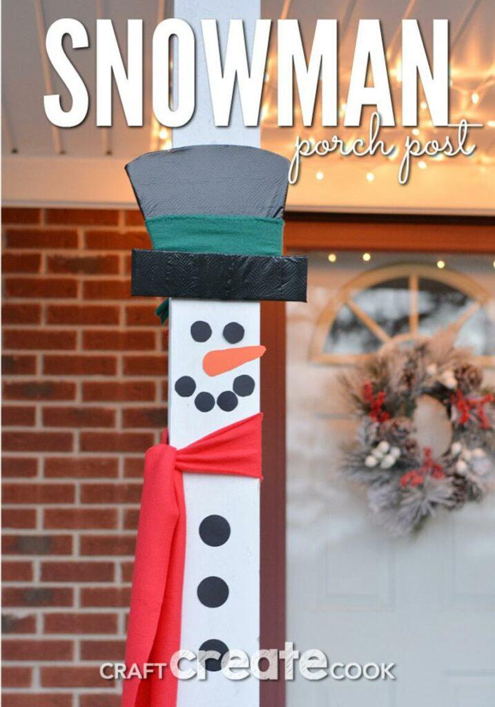 Snowman porch decor