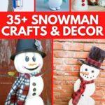 Snowman craft collage