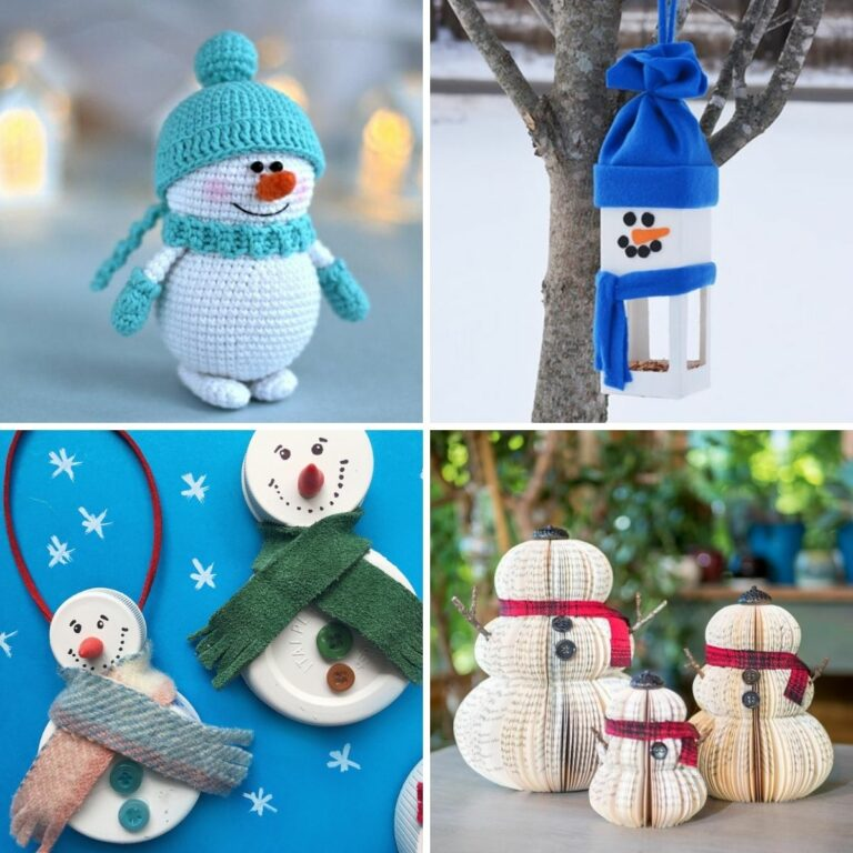 Snowman craft collage