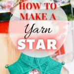 Woven yarn star ornament collage