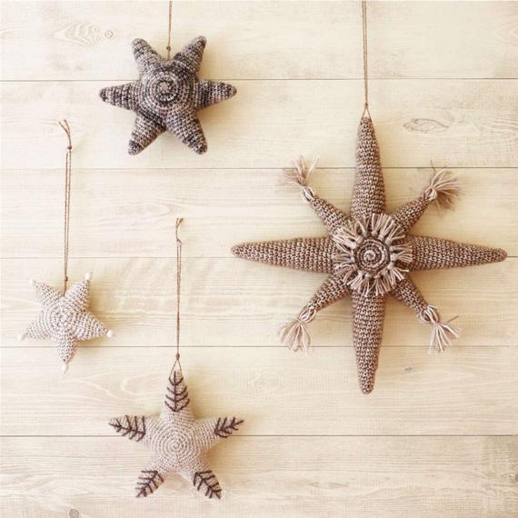 8 WINTER STARS Crochet Pattern Christmas Crochet Crochet | Etsy